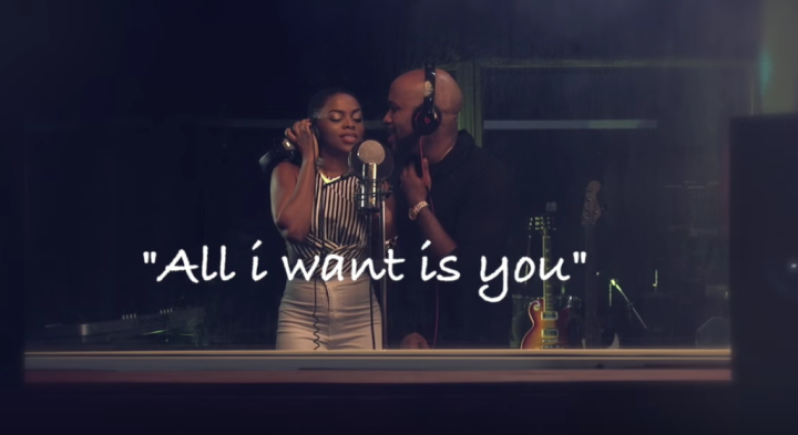 "Banky W and Chidinma in ""All I want is you"" (Photo: Internet)"