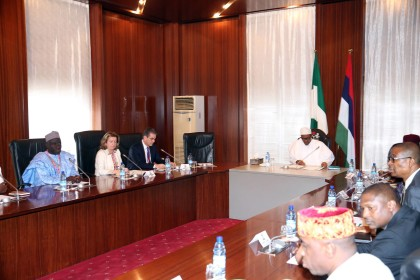 President Buhari With WTO Executive