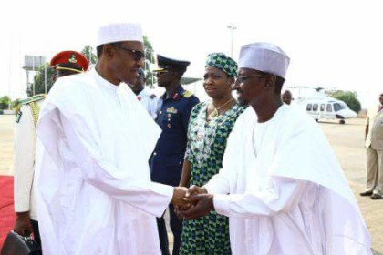 President Buhari and Minister of FCT Muhammed