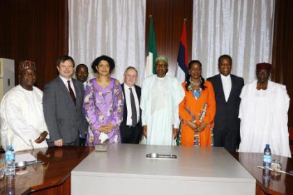 President Buhari With Delegates From UK Member of Parliament