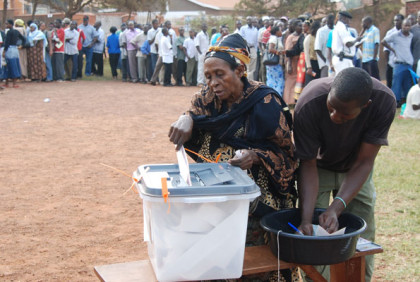 Electorate Cast her Vote In 2016 Ugandan Presidential Election