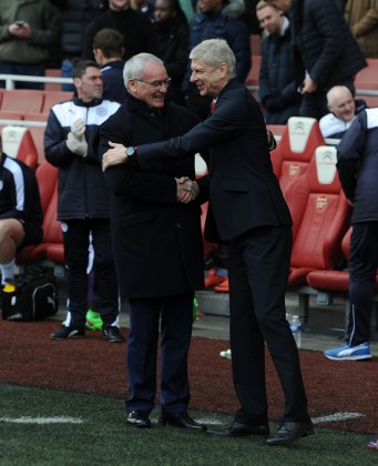 Claudio Ranieri And Arsene Wenger