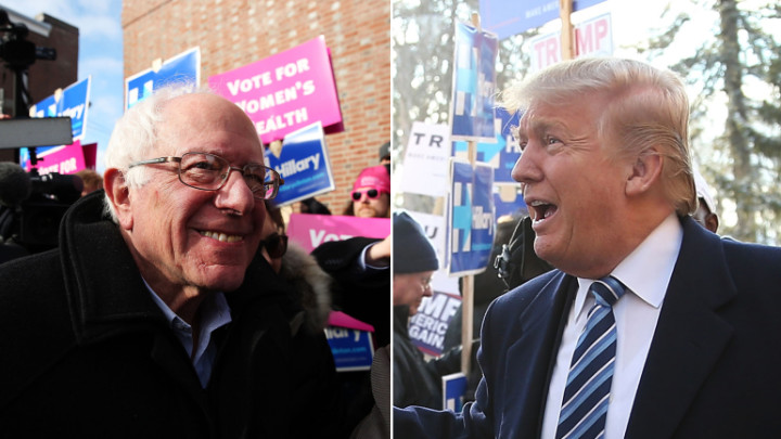 Bernie Sander (Democrat) and Donald Trump (Republican) both winners of the New Hampshire Primaries.