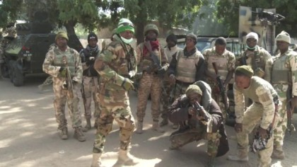 Nigerian Troops stationed in the North east.