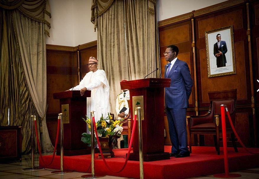 President Buhari in Equatorial Guinea