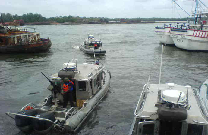 Nigerian Navy Task Force in the Delta(PHOTO: Nigerian Navy)