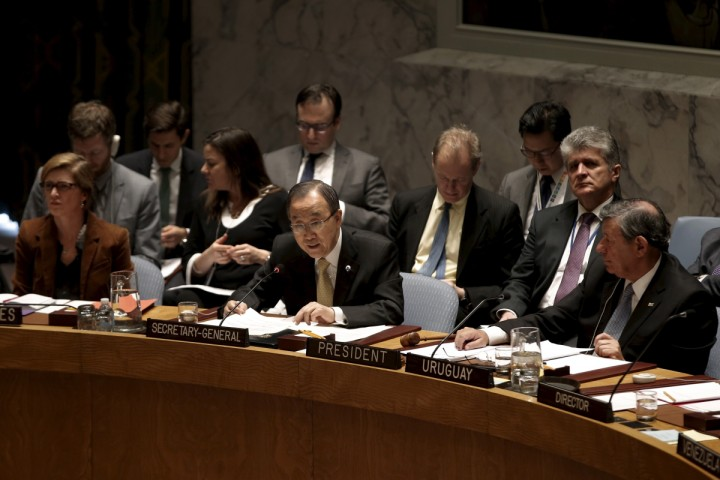 UN Secretary General Ban Ki Moon in UN Security council meeting. (Photo: Internet)