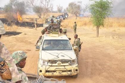 Nigerian Army Clearing Bulasari