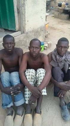 Captured Boko HaramTerrorists