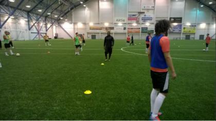 Daniel Amokachi In Training With JS Hercules