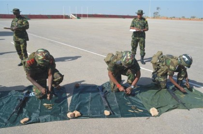 Soldiers Assembling riffle