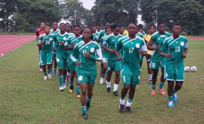 Nigeria Super Falcons Training