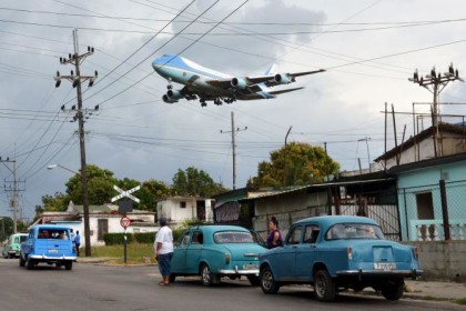 Airforce One Over Cuba