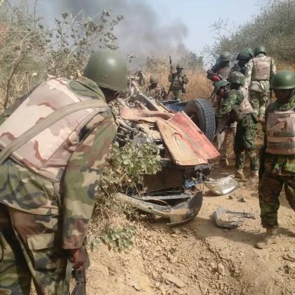 Nigerian Soldiers Clearing Sambisa