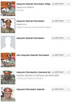 Fake Facebook Accounts of Chief of Defence Staff