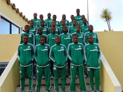 Nigeria's Flamingos U17 Female Team