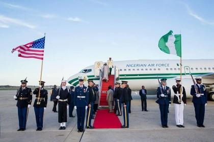 President Buahri Arrives US For #NSS2016