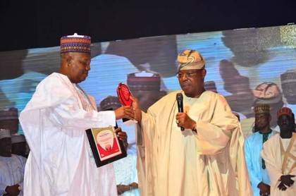 Gov. Kashim Shettima Receives Vanguard Best Governor Award, 2015