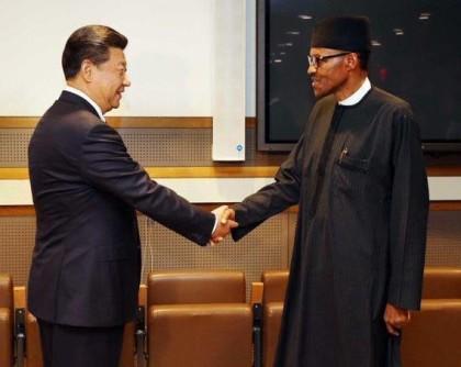 President Buhari And Xi Jinping of China