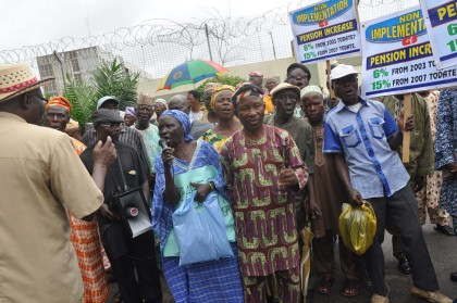 Protest by Nigeria Union of Pensioners
