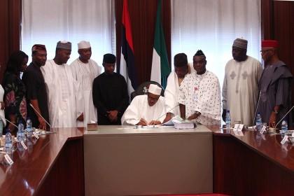 President Buhari Signs The #Budget2016