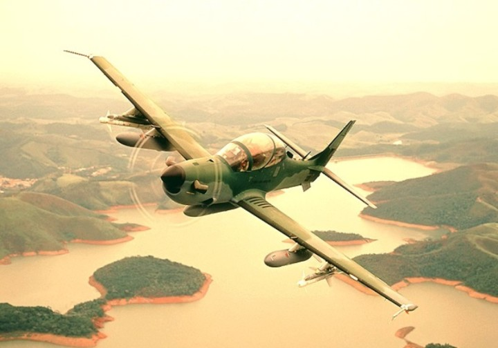 the A-29 is a turboprop assault aircraft capable of launching air-to-air attack