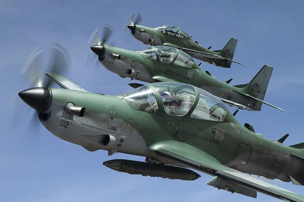 A Formation od A-29 Super Tucano