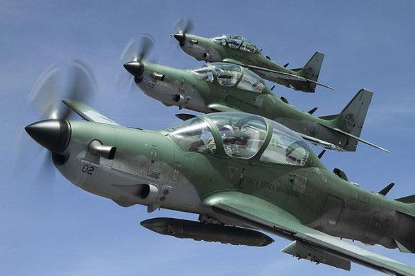 A Formation od A-29 Super Tucano