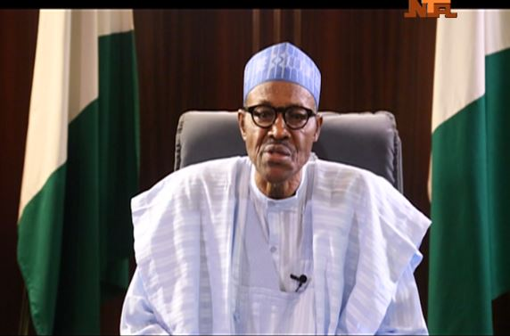 Image result for photos from buhari's presidential broadcast