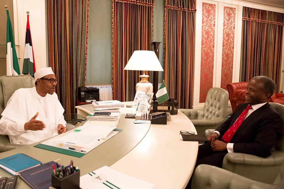 Buhari resumes work after vacation Photo: Femi Adesina