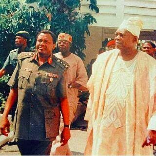 MKO Abiola with General Sani Abacha(PHOTO: National Archive)