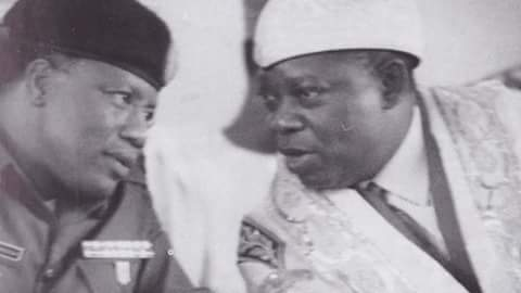 MKO Abiola with General Ibrahim Badamasi Babangida(PHOTO: National Archive)