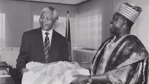 MKO Abiola with Nelson Mandela(PHOTO: National Archive)
