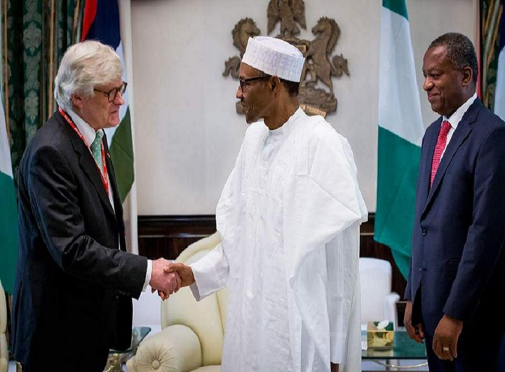 President Buhari meeting with outgoing Norwegian Ambassador Rolf Ree (PHOTO: Garba Shehu)