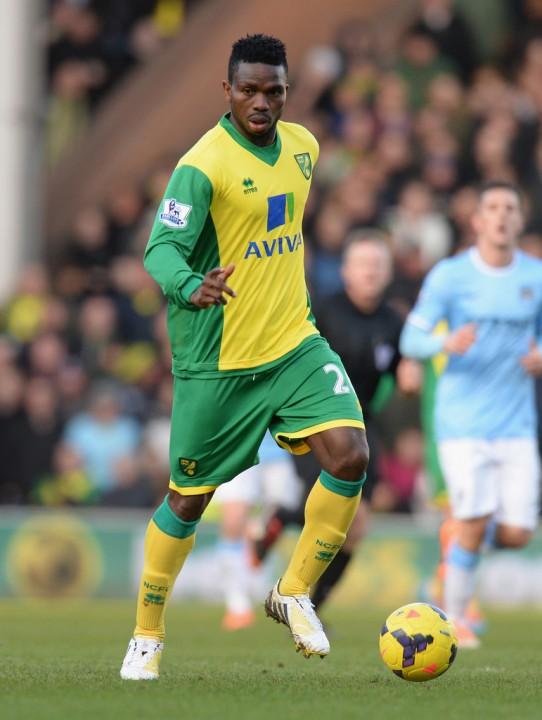Joseph Yobo in Norwich City vs Manchester City(PHOTO: Zimbio.com)