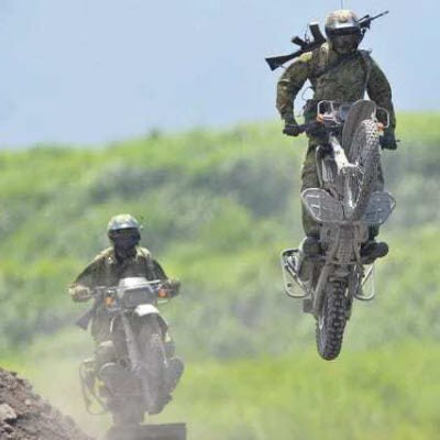 Nigerian army using Motorbikes to Counter-insurgency(PHOTO: Nigerian Army)