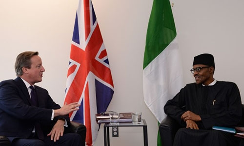 Fmr PM David Cameron and President Muhammadu Buhari at the Anti-Corruption Summit London 2016