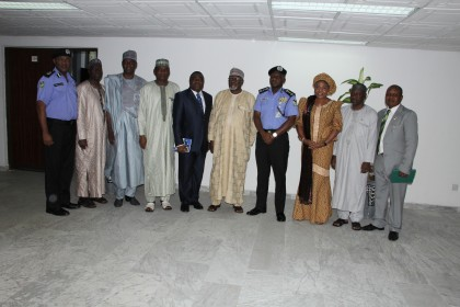 IGP in a group photograph with DG DSS & Members of the Service