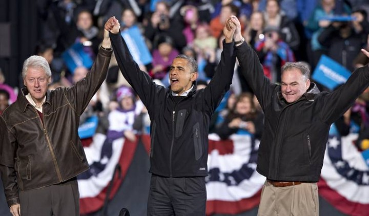 Bill Clinton, President Obama and Democratic Party Running Mate Tim Kaine(PHOTO: MIC)