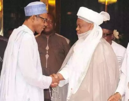 President Buhari and Sultan of Sokoto