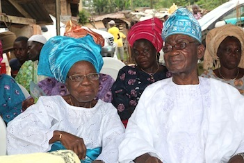 Major General (Rtd) Timothy Babatunde Ogundeko and his wife.