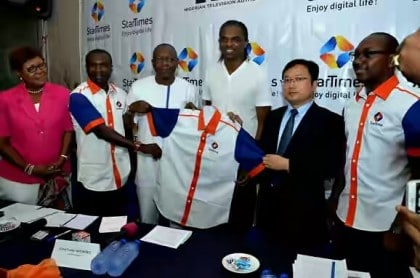 Kanu Nwakwo as NTA StarTimes Network Brand Ambassador in October, 2015