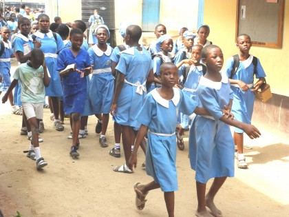 PIC 4 STUDENTS OF METHODIST GIRLS' SECONDARY SCHOOL, GBAGADA, LAGOS RESUME  AFTER EASTER BREAK ON TUESDAY (2/3/13).