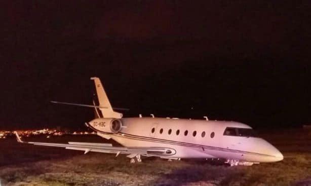 cristiano ronaldo-private-jet-plane-crash-land