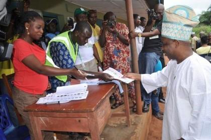 amosun at the ogun polls