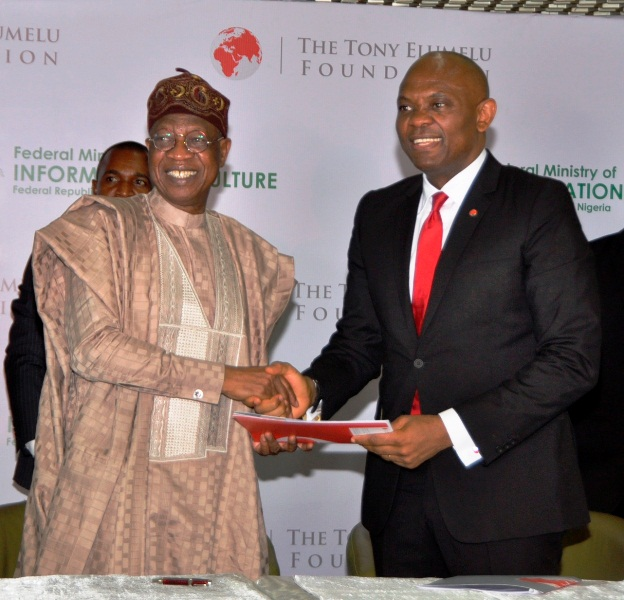 Alhaji Lai Mohammed, Information and Culture Minister with Tony Elumelu