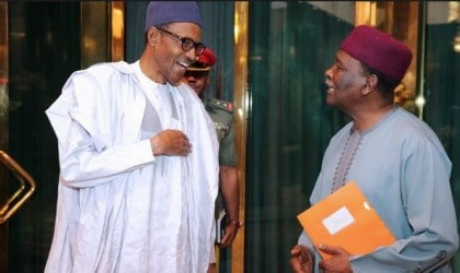 Buhari Grants Audience To Gowon At The Presidential Villa