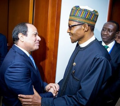 Egyptian President with President Buhari