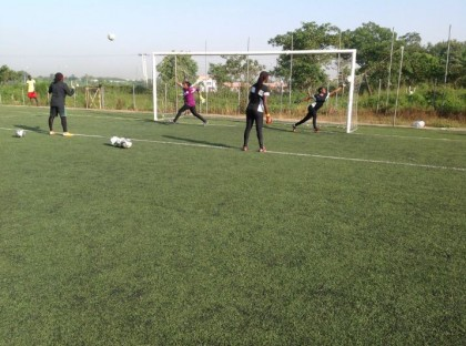 Falcons during training against