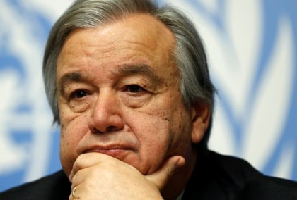 Antonio Guterres, High Commissioner for Refugees, pauses during a news conference for the launch of the Global Humanitarian Appeal 2016 at the United Nations European headquarters in Geneva, Switzerland December 7, 2015. REUTERS/Denis Balibouse/File photo - RTSJ571